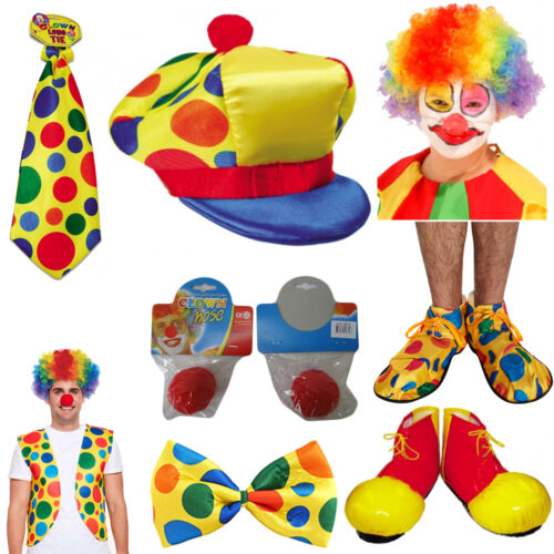 IT Clown Stuff Mens Ladies Afro Wig,Vest Shoes Halloween Fancy Dress accessory