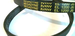 EL1200J6 Courroie MEGADYNE EL 1200 J6 pour lave linge