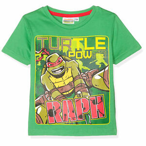 TURTLES-t-shirt-TORTUES-NINJA-3-4-6-ou-8-ans-vert-manches-courtes-NEUF