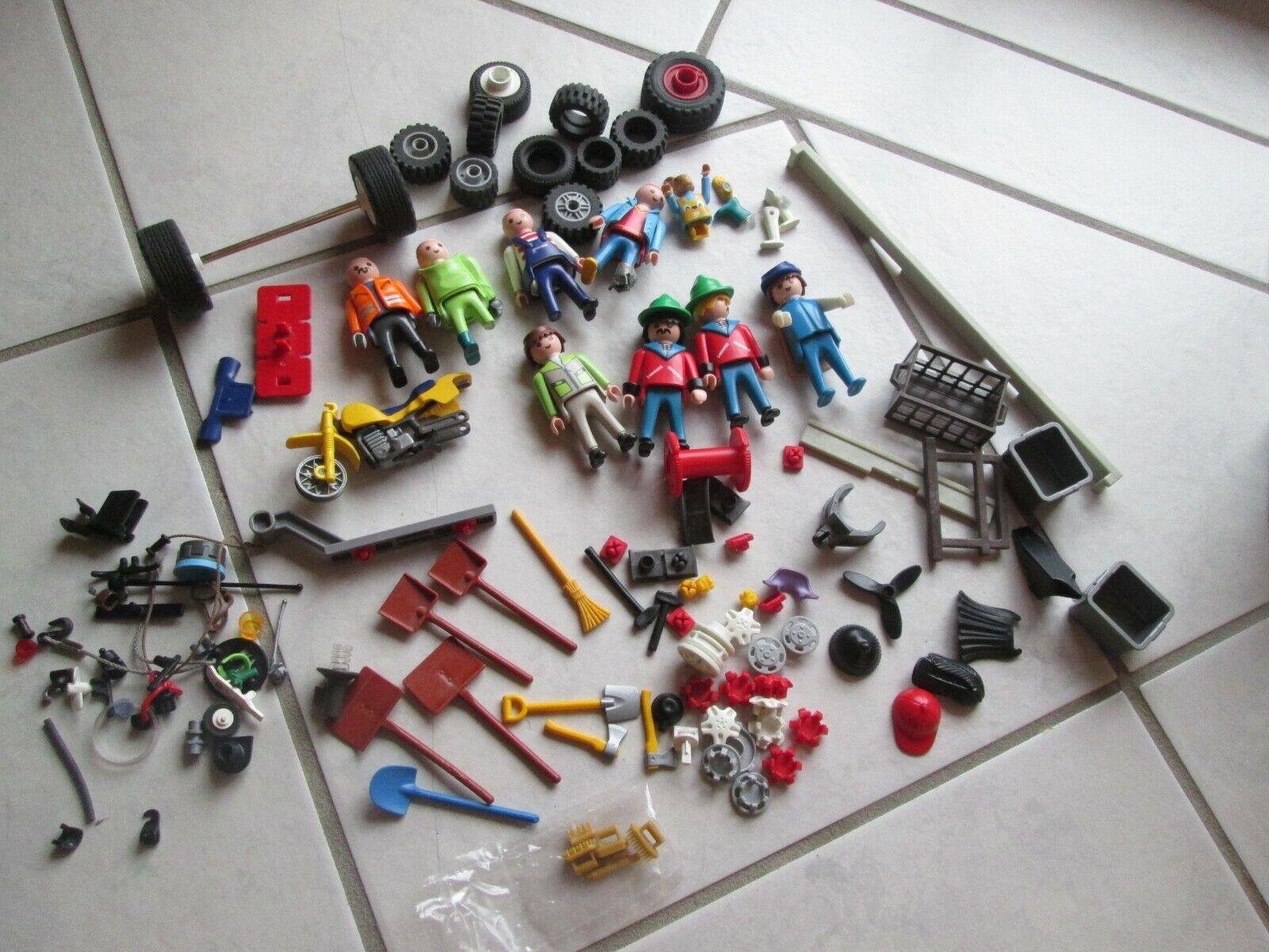Posten Playmobil Reifen Werkzeug Figuren Ersatzteile Räder Zubehör  | Jeder beschriebene Artikel ist verfügbar