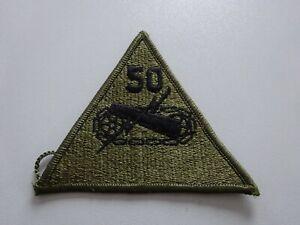 A1-U-USA-Abzeichen-Patch-Panzer-Armored-Brigade-50th-oliv