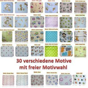 Mullwindeln-bedruckt-5er-Pack-bunt-Spucktuecher-Stoffwindeln-70x80-Baumwolle-NEU