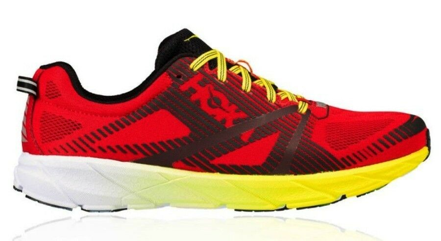NEW MENS HOKA ONE ONE TRACER 2 RUNNING SHOES - 9 - /3 - RED - AUTHENTIC