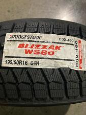 4 New 195 50 16 Bridgestone Blizzak Ws80 Snow Tires