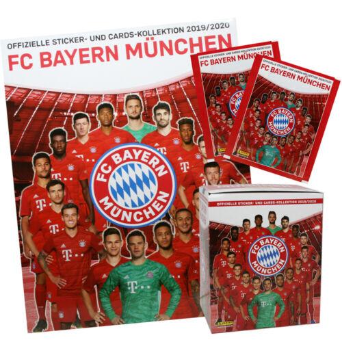 Album zum aussuchen Panini FC Bayern München 2019//20 Sticker Display,Tüten
