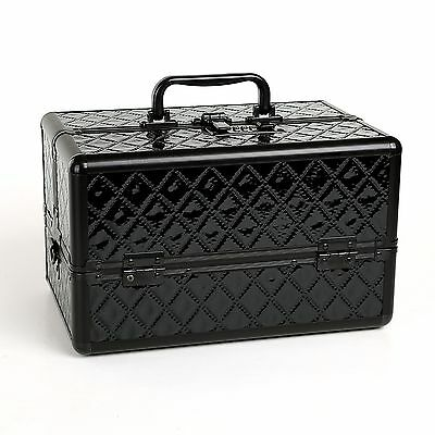 Brand New Diamond Panel Professional Makeup Train Case with Security Code Locks