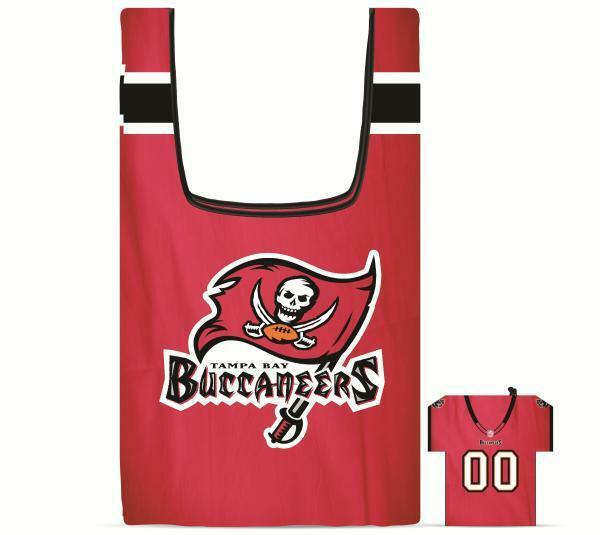 New NFL Tampa Bay Buccaneers Jersey Style Reusable Shopping Grocery Bag  for sale
