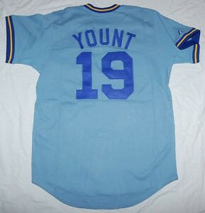 08bdaa7bfaa Image is loading ROBIN-YOUNT-MILWAUKEE-BREWERS-COOPERSTOWN-SEWN-JERSEY-XL