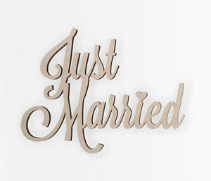 """Just Married Wedding Decor Word Cutout """"Just Married"""" - Cutout Wedding Gifts,"""