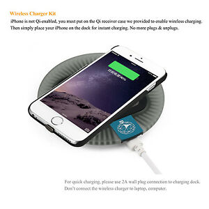 buy popular 5c9fa 69583 Details about Qi Wireless Charger Charging Pad and Receiver Case for  iPhone6/6S/6 Plus/6s plus