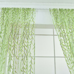 Wicker-Window-Curtain-Tulle-Voile-Drape-Panel-Sheer-Scarf-Valances