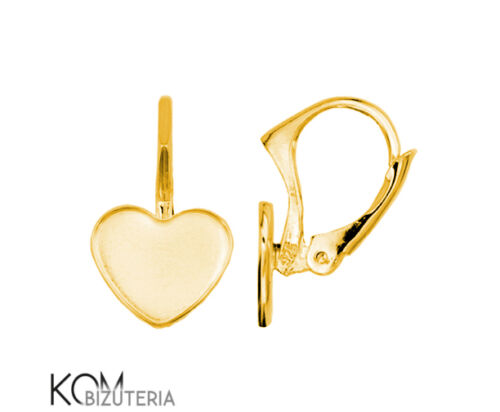 gold-plated silver Leverback 10 mm heart earring kz 69 1 pair