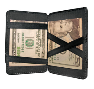 Magic-Slim-Thin-Wallet-With-Outside-Pockets-Credit-Cards-Holder-Leatherette