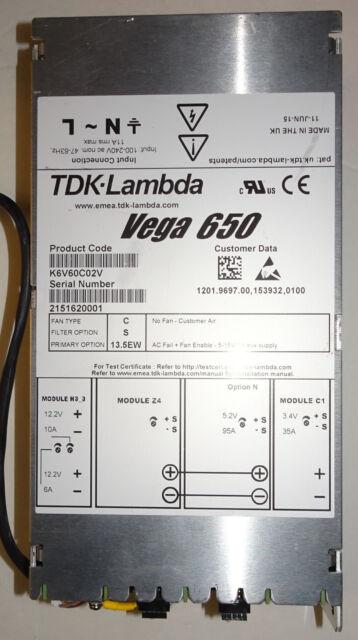 Lambda Vega 650 K6V60C02V USED Power Supply