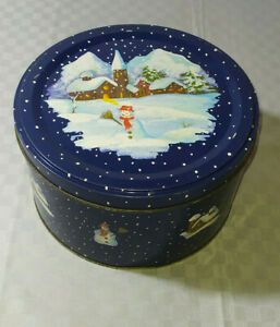 Scatola Latta Biscotti Natale.Scatola Di Latta Vuota Vintage Natalizia Natale 19x10 Cm Da Collezione Box Ebay