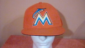 dd2751f8086 Image is loading Fitted-MLB-Baseball-Cap-Orange-M-size-7-