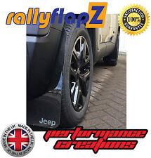 rallyflapZ adatta a JEEP RENEGADE Fango Lembi Paraspruzzi x4 Nero 4mm PVC Logo