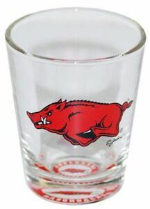 Arkansas-Razorbacks-Bullseye-Bottom-Shot-Glass