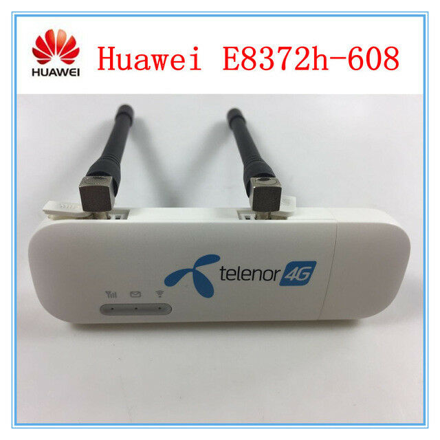 TS9 Antenna Free Unlocked Huawei E8372h-608 4G LTE Car WIFI USB Dongle 150Mbps