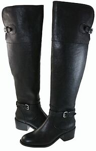 Coach-Womens-Phillis-Over-The-Knee-Pull-On-Strap-Buckle-Zipper-Casual-Boots