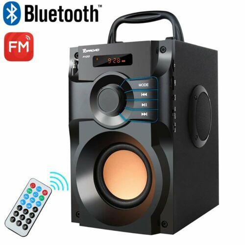 Tragbarer Bluetooth Lautsprecher FM Radio Akku AUX TF USB Subwoofer Soundstation