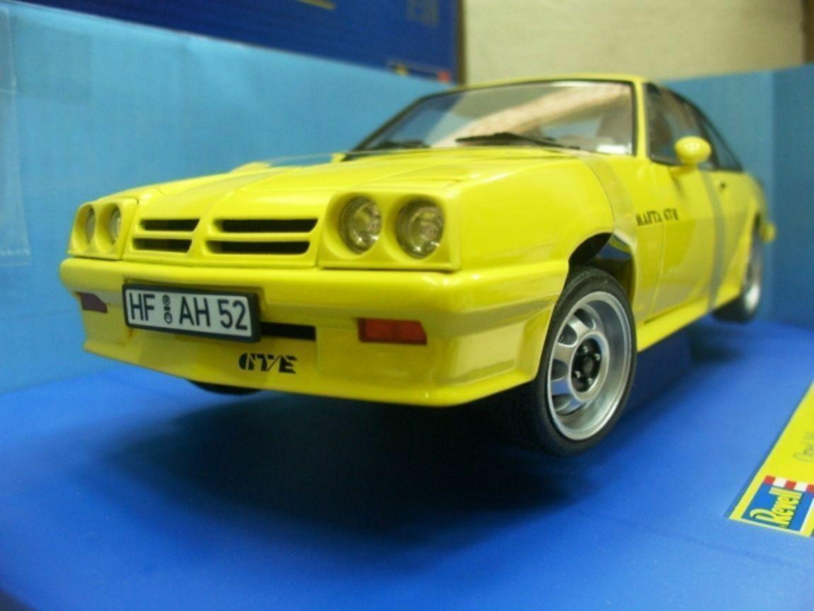 WOW estremamente raro OPEL MANTA B2 GT/E 1982 GIALLO 1:18 REVELL-Auto Art/MGA/400