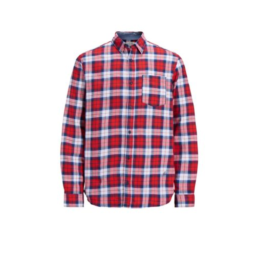 Jack /& Jones Kids Boys Long Sleeve Casual Summer Check Shirt 8-16 Years