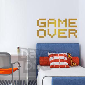 Game Over Retro Video Pc Gamer Abituali Arcade Ragazzi Ragazze Camera Da Letto Wall Art Sticker Decal Ebay