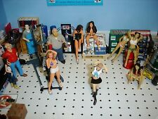 Naomi- Brunette -  white top - 1/18 scale figure/figurine - AMERICAN DIORAMA