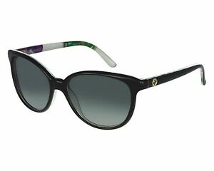 6c495882db Gucci 3633 N S Color 706VK Black Sunglasses Floral Print Italy New ...