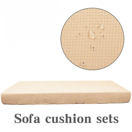 1-4Seaters Sofa Seat Cushion Fleece Slipcover Stretch Waterproof Cover Protector