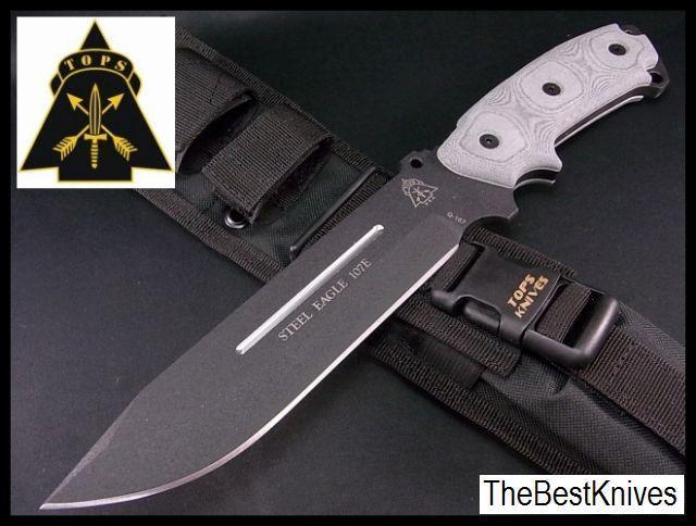 Tp107e tops Knives Steel Eagle 1095 Cochebon miCocheta handle nylon sheath made EE. UU.