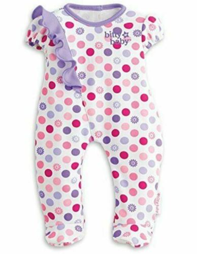 American Girl Bitty Baby Colorful Dots Ruffle Sleeper /& Bottles for doll NEW