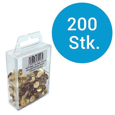 200 Reißbrettstifte Reißzwecken Heftzwecken bunt Reiszwecken Reißnägel farbig