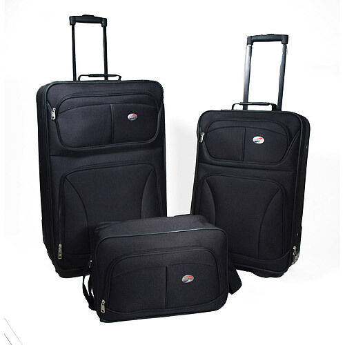 fa6c010355 American Tourister Brewster 3 Pcs Luggage Set Black 57182 1041 for sale  online