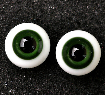 Nice Glass 10MM BJD Eyes DarkGreen Iris/&Black Pupil for BJD Doll