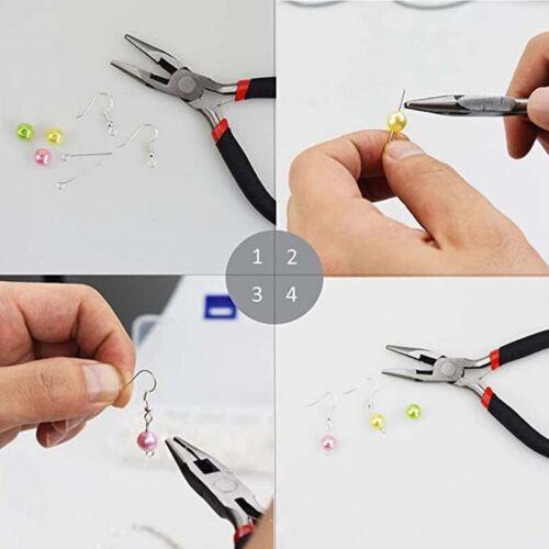 Schmuckherstellung Set Bastelset Zangen Werkzeug Schmuck Basteln Zubehör Kit DIY