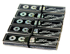 OCB PREMIUM SLIM King Size Rolling 160 paper  + FILTER TIPS 5 booklets