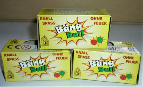 Bäng Ball Knallkugeln 3 x 2 Stück knallt ohne Feuer Jugendfeuerwerk