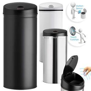Kesser-Automatik-Sensor-Muelleimer-Abfalleimer-EDELSTAHL-Papierkorb-30-40-50-56L