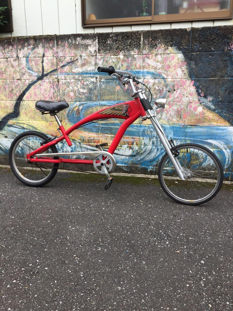 ef2368bce99 INDIAN MOTORCYCLE SPORTS BIKE BICYCLE RED VERY RARE USED 1.10 WHEEL ...