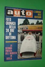 AUTO ITALIANA 8/1967 24 ORE DAYTONA FERRARI P4 GARE IN SICILIA INCHIESTA SIRACUS