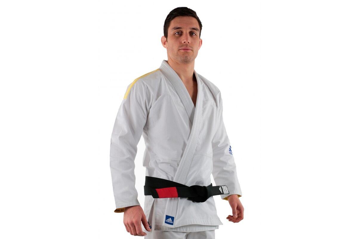 Adidas Response White BJJ GI Brazilian JiuJitsu Lightweight Uniform Suit Men's