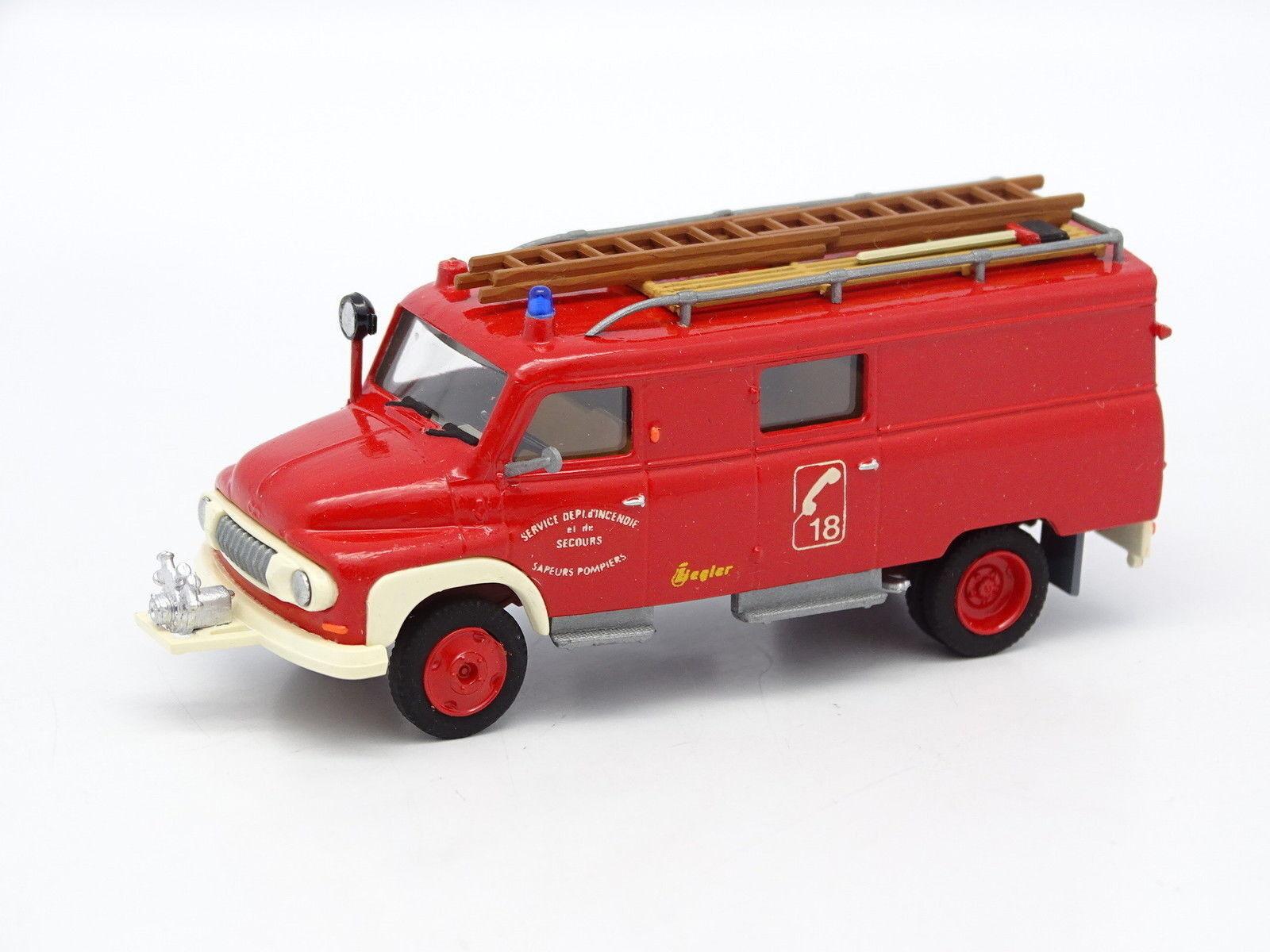 Kit monté 1 87 HO - Opel Hanomag  Fourgon Pompiers Ziegler