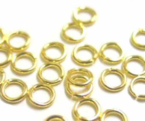 Bronze 6-8mm Gold 100 OPEN JUMPRING jump ring Findings Silver plated