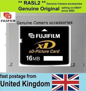 Genuine Original Fujifilm 16 Mb Xd Picture Card 16mb Xd Memory Card Uk Seller Ebay