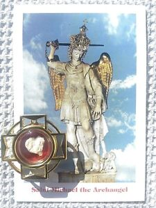 St Michael Archangel Cave Stone Italy Shrine W Certificate Of Authenticity Ebay