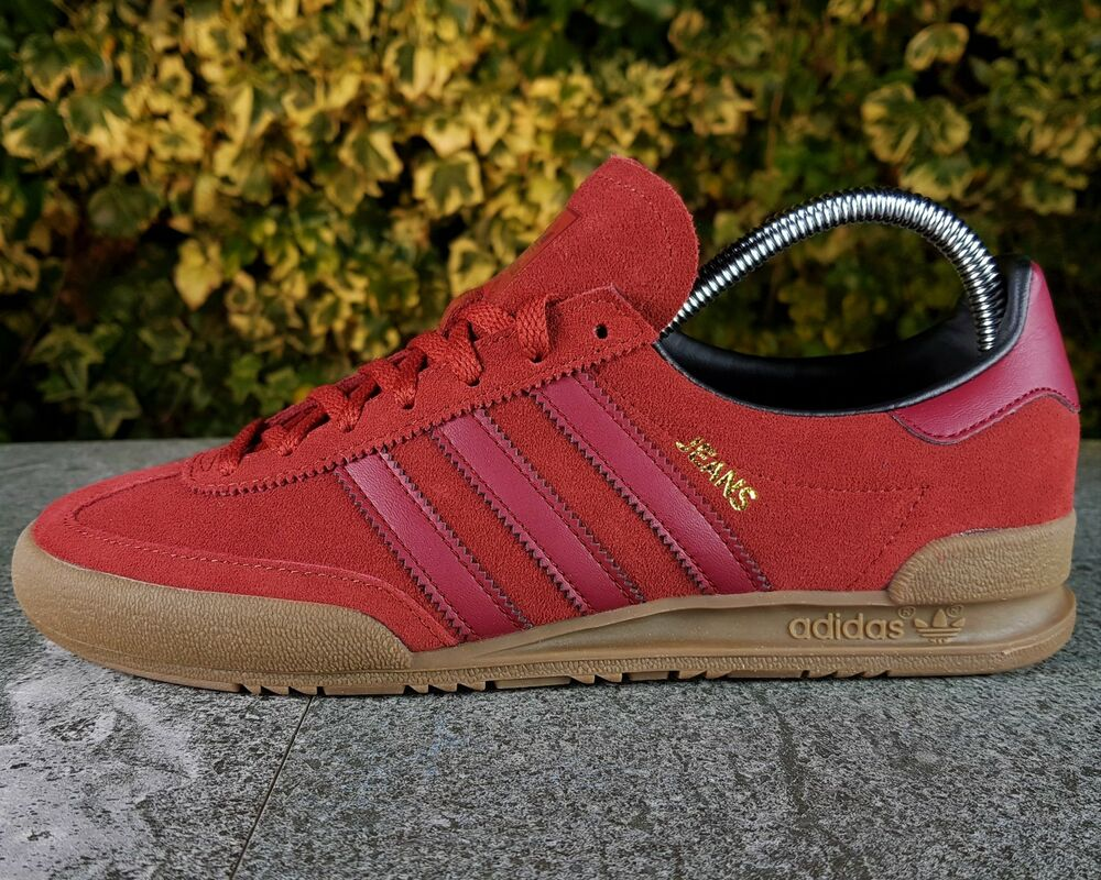 BNWB AUTHENTIQUE Adidas Originals ® Jeans MKII Mystère UK rouge Daim Baskets Taille UK Mystère 10- 47bae8