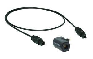 1-5m-OPTIQUE-CABLE-FIBRE-OPTIQUE-CABLE-TOSLINK-1x-Adaptateur-d-039-angle-AC001