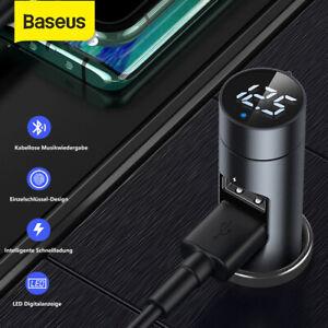 Baseus-Bluetooth-5-0-FM-Transmitter-Auto-MP3-Player-USB-KFZ-3-1A-Ladegeraet-AUX